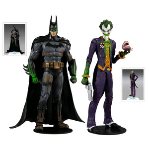 "DC Multiverse Batman Arkham Asylum - Batman & The Joker 7"" Action Figure 2-Pack"