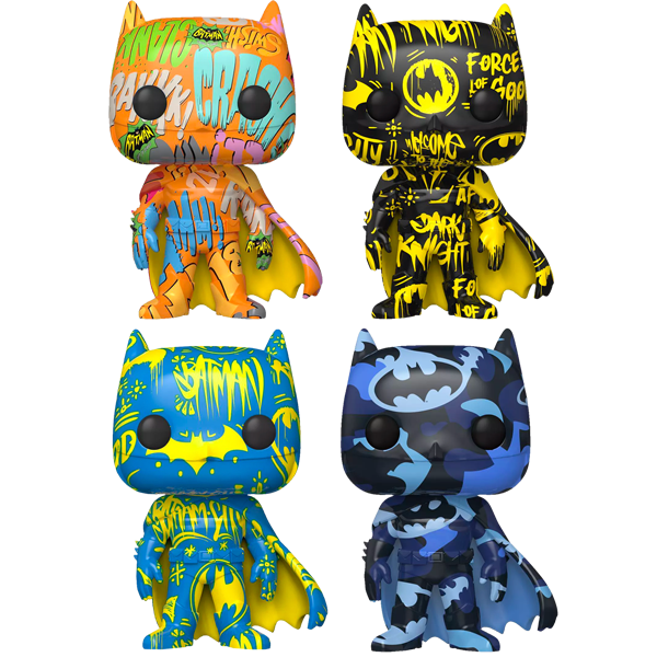 Batman Art Series - Pop! Vinyl Figures with Pop! Stacks Bundle