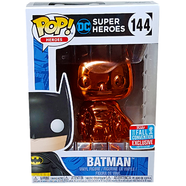 DC Super Heroes - Batman Orange Chrome NYCC 2018 Exclusive Pop! Vinyl Figure