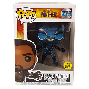 Black Panther - Black Panther Blue Glow US Exclusive Pop! Vinyl Figure