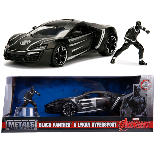 Black Panther - Lykan Hypersport 1:24 Scale Die-Cast Car Replica with Black Panther