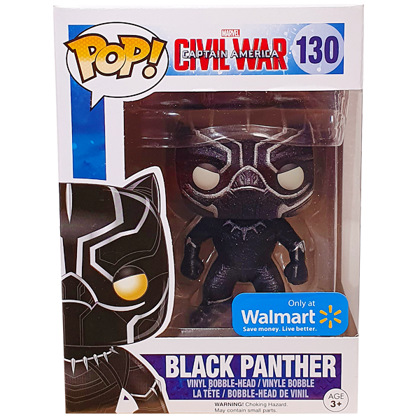 Captain America Civil War - Black Panther (Onyx Glitter) Walmart Exclusive Pop! Vinyl Figure