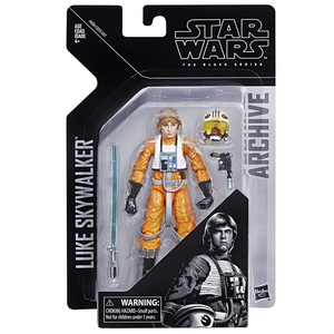 "Star Wars A New Hope - Black Series Archive 6"" Luke Skywalker Pilot Action Figure"