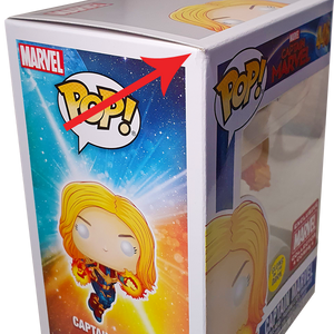 Captain Marvel - Captain Marvel (Glow) MCC Exclusive Pop! Vinyl Figure