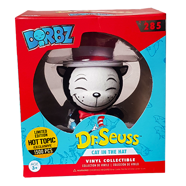 Dr. Seuss - Cat in the Hat (Umbrella) Flocked Hot Topic Exclusive Dorbz