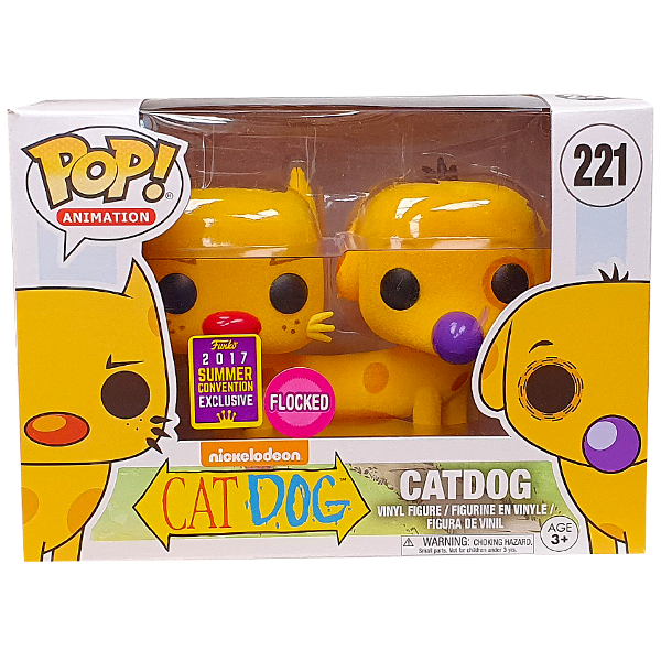 Catdog - Catdog Flocked SDCC 2017 Exclusive Pop! Vinyl Figure