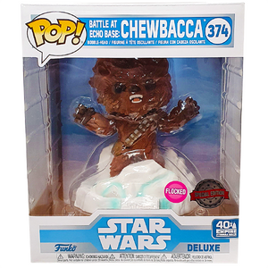 Star Wars The Empire Strikes Back - Chewbacca Flocked US Exclusive Deluxe Pop! Vinyl Figure