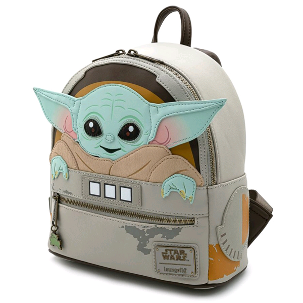 "Star Wars The Mandalorian - The Child 10"" Faux Leather Mini Backpack"