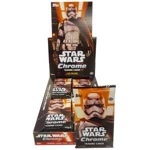 Star Wars The Force Awakens - Chrome Hobby Collection Trading Cards - Booster Pack