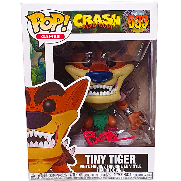 Crash Bandicoot - Tiny Tiger (with Autograph) Pop! Vinyl Figure