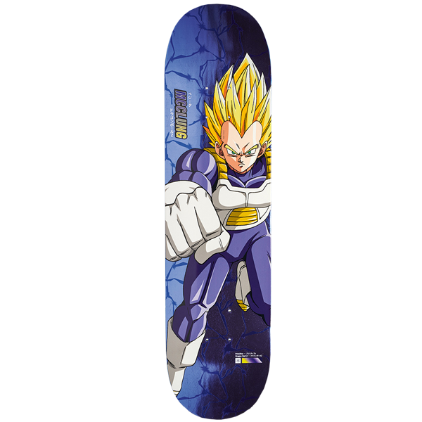 "Dragon Ball Z - DBZ x McClung Super Saiyan Vegeta 8.0"" Primitive Skateboard Deck"