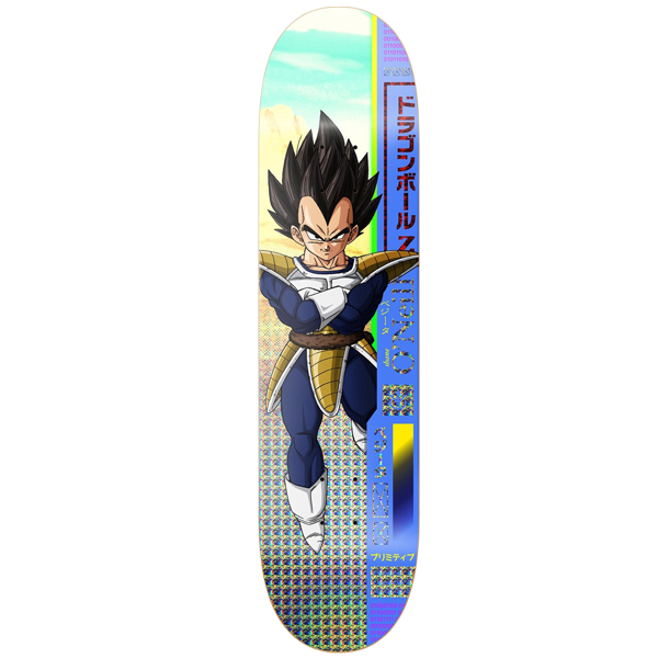 "Dragon Ball Z - DBZ x McClung Vegeta 8.0"" Primitive Skateboard Deck"