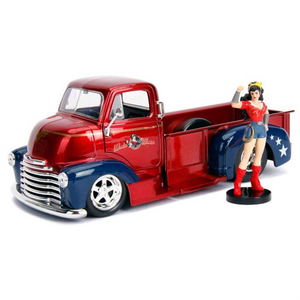 DC Bombshells - 1952 Chevy COE Pickup 1:24 Scale Die-Cast Car Replica with Wonder Woman