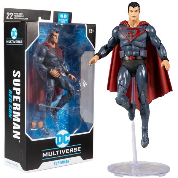 "Superman Red Son - Superman DC Multiverse 7"" Action Figure"