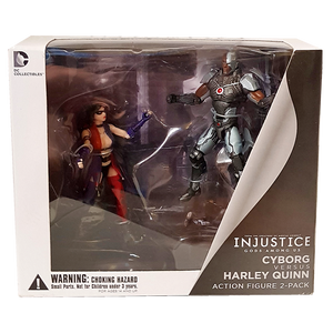 Injustice - Cyborg vs Harley Quinn Action Figure 2-Pack