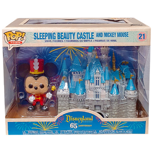 Disneyland 65th Anniversary - Sleeping Beauty Castle and Mickey Mouse Pop! Town Vinyl Figure