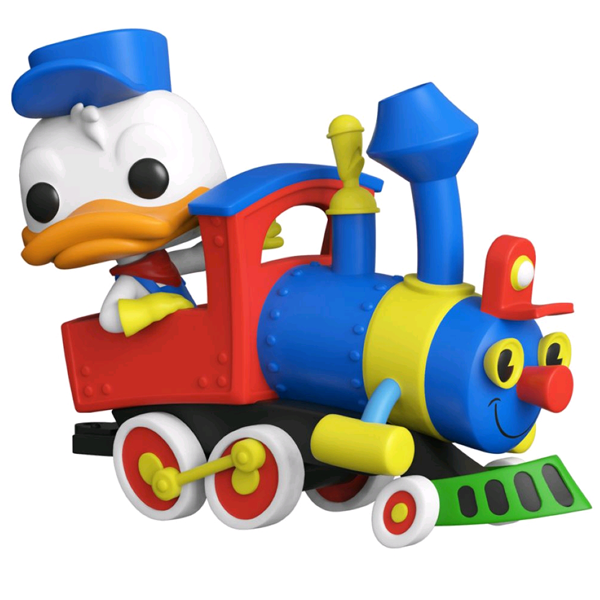 Disneyland 65th Anniversary - Donald Duck on the Casey Jr. Circus Train Attraction Pop! Train Vinyl Figure