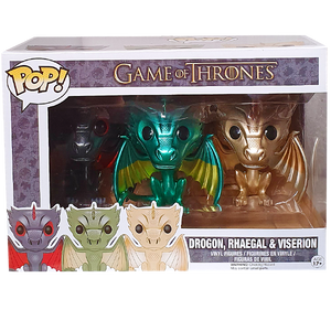 Game of Thrones - Drogon, Rhaegal & Viserion (Metallic) Pop! Vinyl Figure 3-Pack