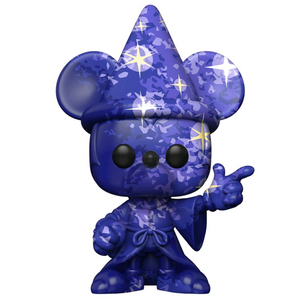 Fantasia 80th Anniversary - Sorcerer Mickey (Blue) Art Series Pop! Vinyl Figure with Pop! Stacks