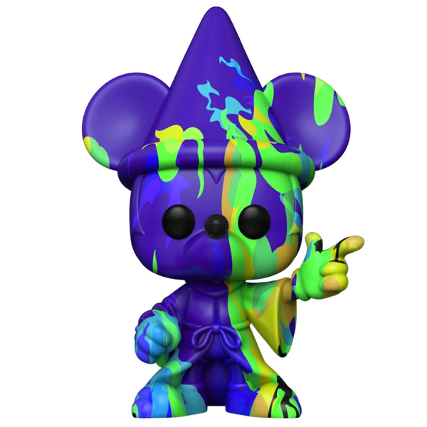 Fantasia 80th Anniversary - Sorcerer Mickey (Purple & Green) Art Series Pop! Vinyl Figure with Pop! Stacks