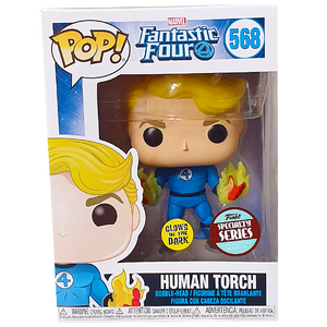Fantastic Four - Human Torch Suited Glow Specialty Series Exclusive Pop! Vinyl Figure