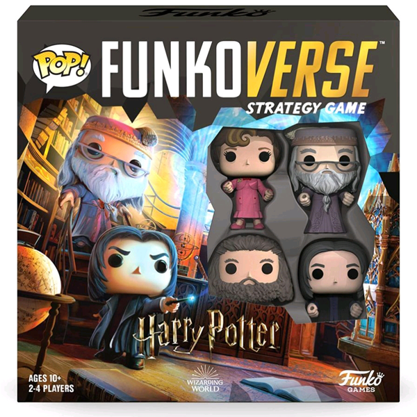 Harry Potter - Albus Dumbledore, Severus Snape, Rubeus Hagrid, and Dolores Umbridge Pop! Funkoverse Strategy Board Game 4-Pack