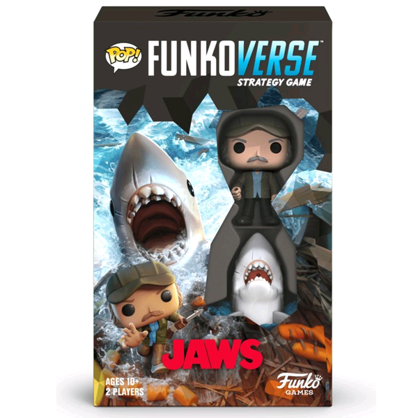 Jaws - Quint & Great White Shark Pop! Funkoverse Strategy Board Game 2-Pack