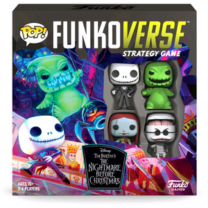 The Nightmare Before Christmas - Jack, Sally, Oogie Boogie, Dr. Finkelstein Pop! Funkoverse Strategy Board Game 4-Pack