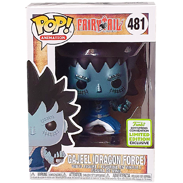 Fairy Tail - Gajeel (Dragon Force) ECCC 2019 Exclusive Pop! Vinyl Figure