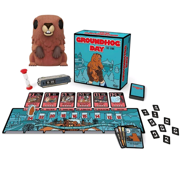 Groundhog Day - Groundhog Day: The Game & Punxsutawney Phil Flocked Pop! Figure Box Set