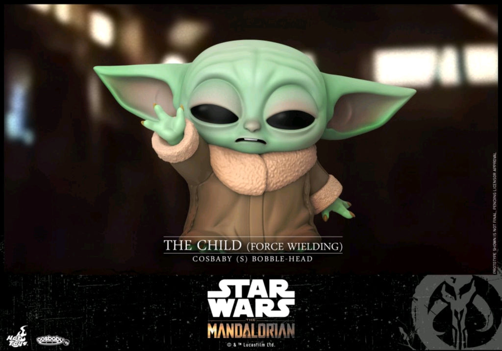 Star Wars The Mandalorian - The Child Force Wielding Cosbaby