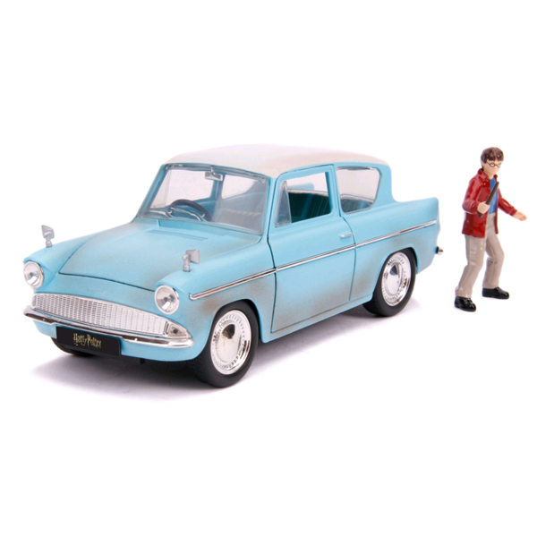 Harry Potter - 1959 Ford Anglia 1:24 Scale Die-Cast Car Replica with Harry Potter