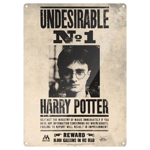 Harry Potter - Large Tin Sign Undesirable No. 1