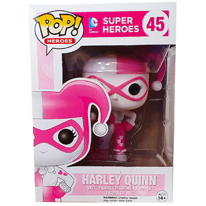 DC Super Heroes - Harley Quinn (Pink Hearts) US Exclusive Pop! Vinyl Figure