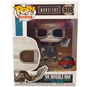 Universal Monsters - The Invisible Man (Black & White) US Exclusive Pop! Vinyl Figure