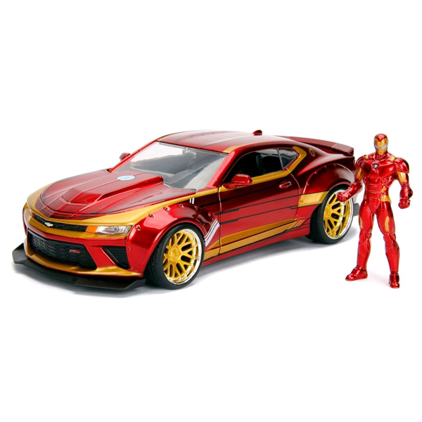 Marvel - 2016 Chevy Camero 1:24 Scale Die-Cast Car Replica with Iron Man Figure
