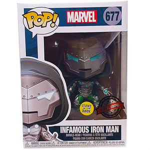 Marvel - Infamous Iron Man Glow US Exclusive Pop! Vinyl Figure
