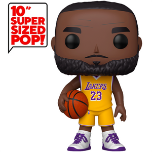 "NBA: Lakers: - LeBron James (Yellow Jersey) 10"" US Exclusive Pop! Vinyl Figure"