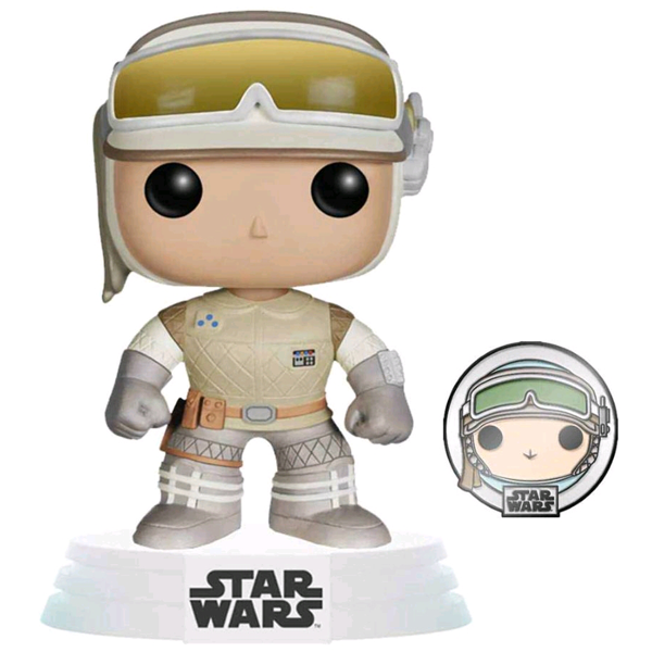 Star Wars Across The Galaxy – Luke Skywalker (Hoth) US Exclusive Pop! Vinyl Figure with Enamel Pin
