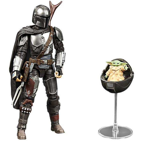 "Star Wars The Mandalorian - Black Series 6"" Din Djarin & The Child Action Figure - Slight Box Damage"