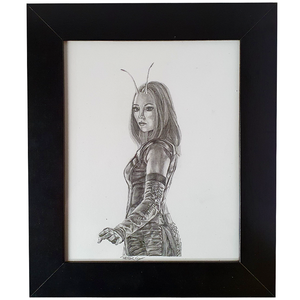 Artwork - Fine Art Pencil Sketch A4 with Frame - 'Mantis'