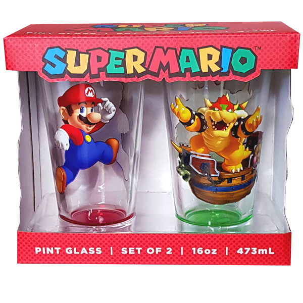 Super Mario Brothers - Pint Glass Set of 2