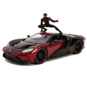 Spider-Man - 2017 Ford GT 1:24 Scale Die-Cast Car Replica with Miles Morales Figure