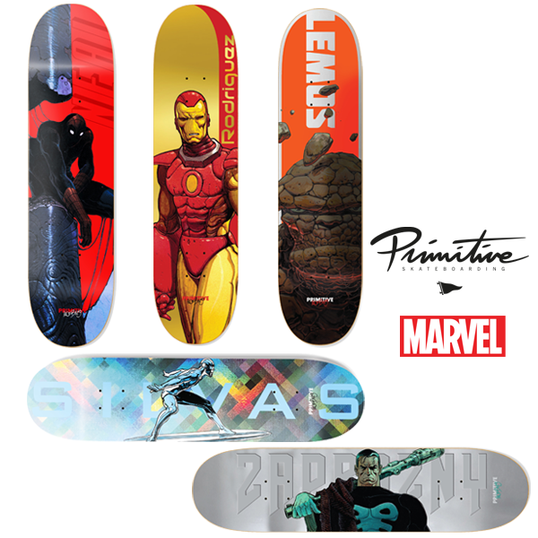 Marvel - Moebius Set Primitive Skateboard Decks - Bundle of 5