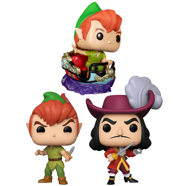 Disneyland 65th Anniversary - Peter Pan's Flight Attraction Pop! Vinyl Figures Bundle