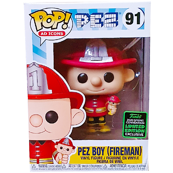 Ad Icons PEZ - Pez Boy (Fireman) ECCC 2020 Exclusive Pop! Vinyl Figure