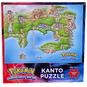 Pokemon - Kanto Map Puzzle 550 Pieces