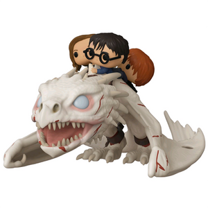 Harry Potter - Harry, Hermione & Ron with Gringott's Dragon Funko Pop! Rides Vinyl Figure