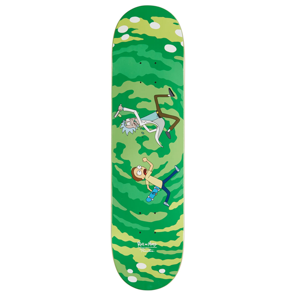 "Rick and Morty - Portal Glow 8.38"" Primitive Skateboard Deck"