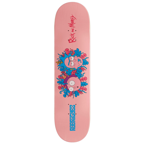 "Rick and Morty - Rick and Morty X  Rodriguez 8.5"" Primitive Skateboard Deck"